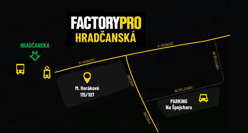 Mapa Factory Pro Hradčanská